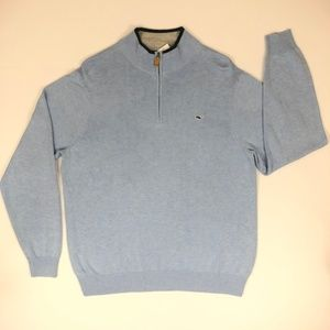 Vineyard Vines Jake Blue Quarter Zip Pullover NWT